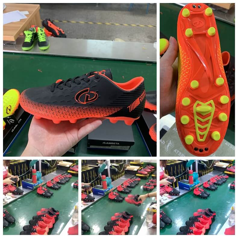 soccer shoes production line