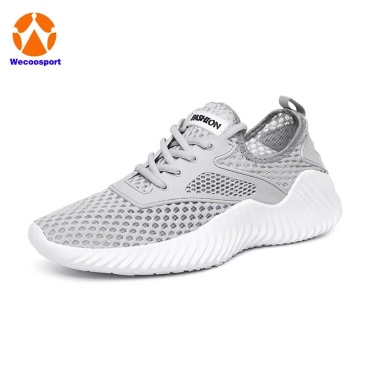 cheap grey mesh mens sport shoes