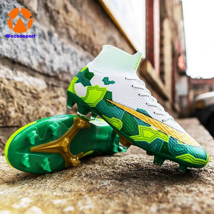 green FG soccer shoes