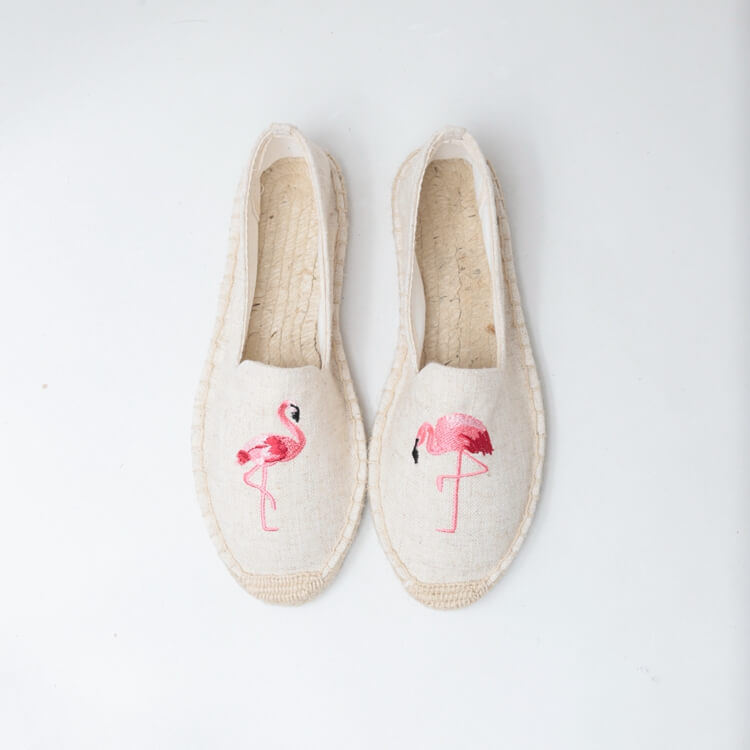 embroidered logo espadrilles