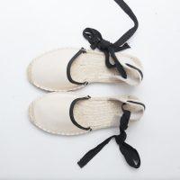 woman canvas espadrille sandals