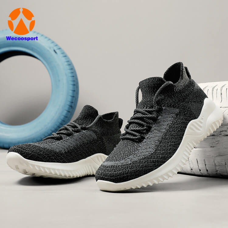 men sock running shoes