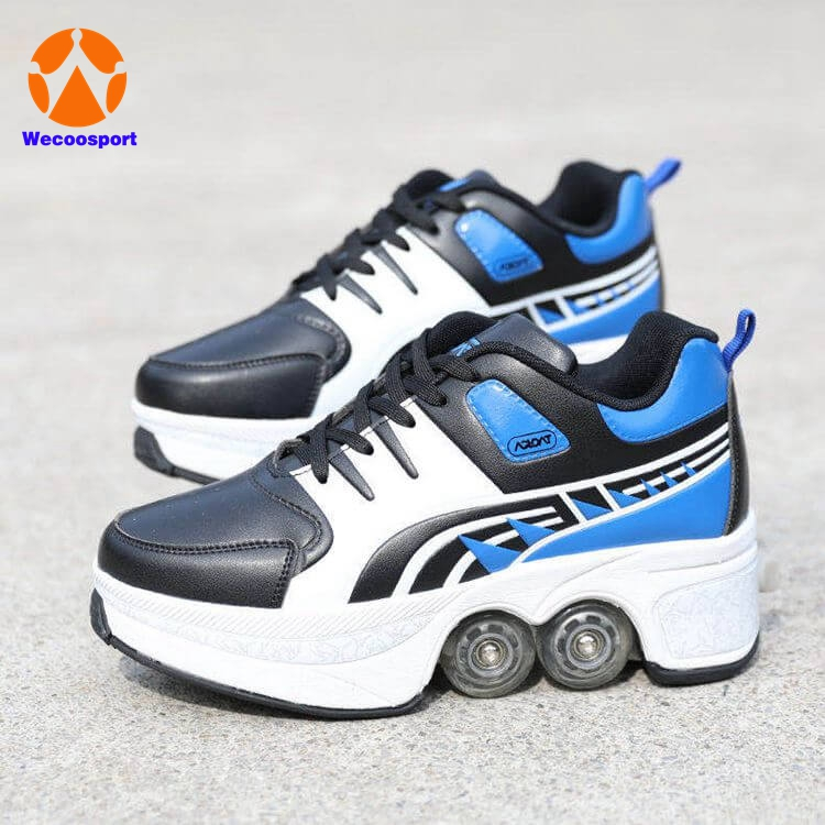 quad kick roller skate shoes